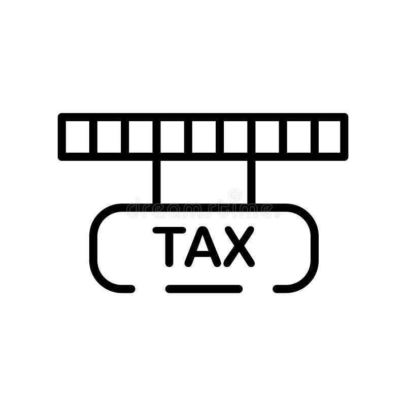 Imposez le vecteur d'icône d'isolement sur le fond blanc, signe d'impôts, rayez sy illustration de vecteur