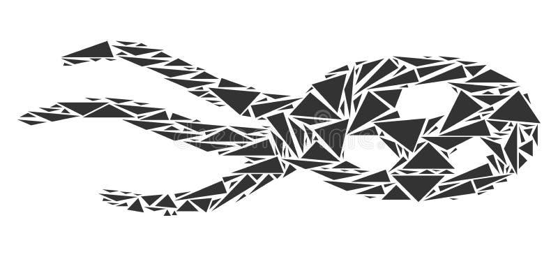 Imposez-vous la mosaïque de micro-organisme des triangles illustration stock