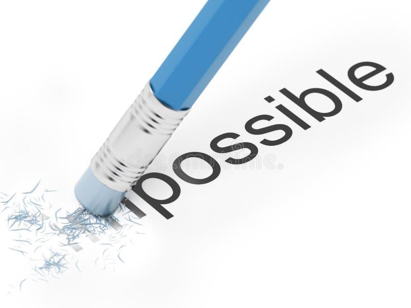 Imposible a posible. ilustración del vector