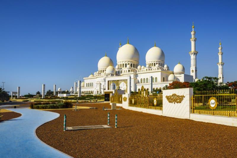 Imposing шейх Zayed Грандиозн Мечеть в Абу-Даби 7 стоковые изображения rf