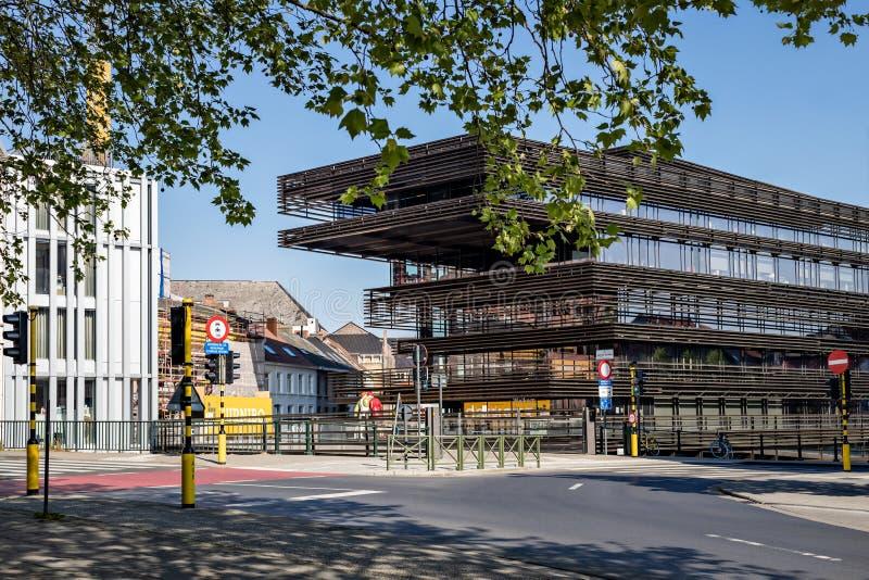 Ghent, Belgium - April 26, 2020: View of the city library De Krook royalty free stock photos