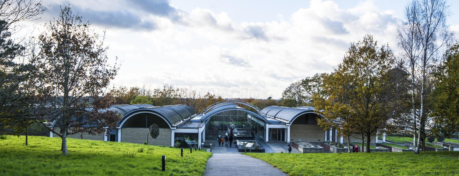Wakehurst Place Millennium Seed Bank. This is the imposing entrance to the Wakehurst Place Millennium Seed Bank - the world`s largest collection of wild plant stock photography