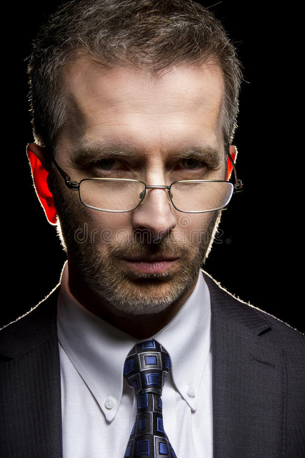 Imposing Portrait of a Serious Businessman stock image