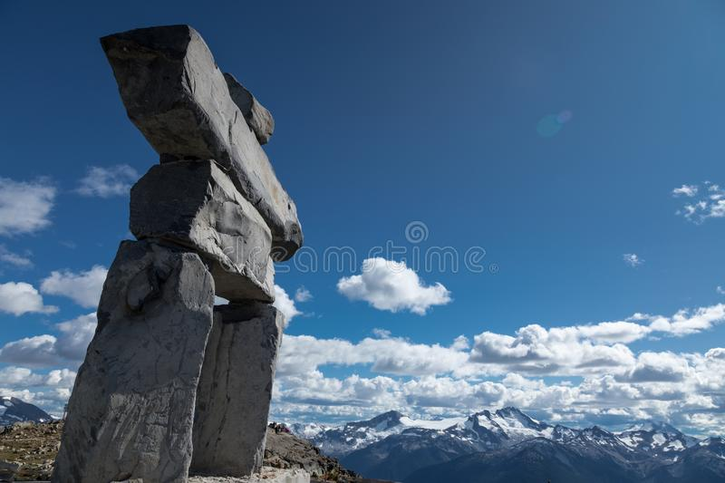 Whistler Inukshuk stock photos
