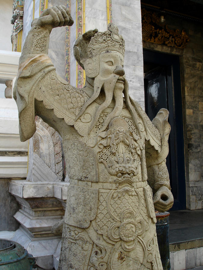 Imposing Stone Guard with flowing beard - Royal Palace royalty free stock images