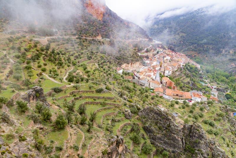 Ayna, population of the Sierra del Segura in Albacete Spain. stock image