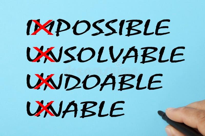 Impossível é o conceito possível imagem de stock royalty free