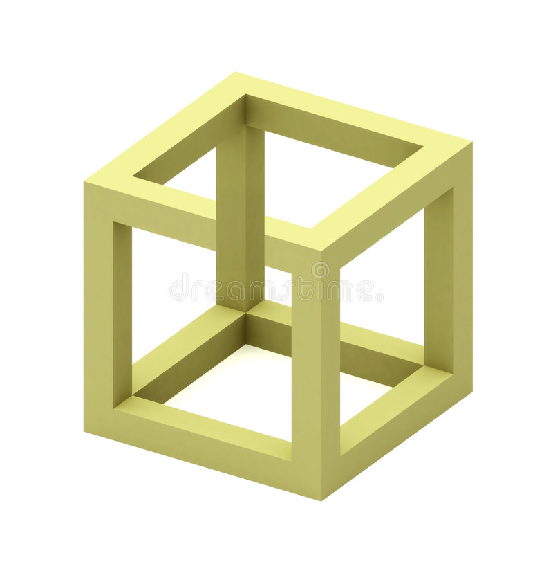 Impossible cube royalty free stock image