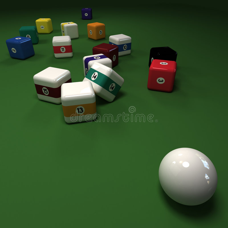 Download Impossible Cubic Billiard Game Stock Illustration - Image: 8688824