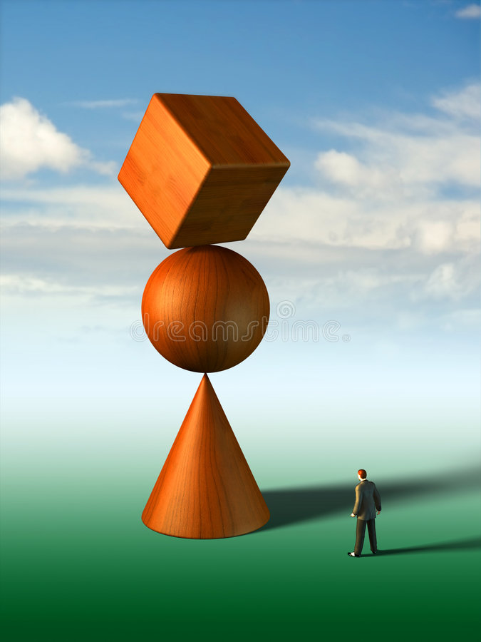 Download Impossible equilibrium stock illustration. Image of business - 4618950