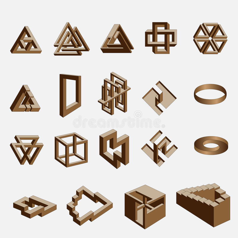 Impossible objects stock illustration