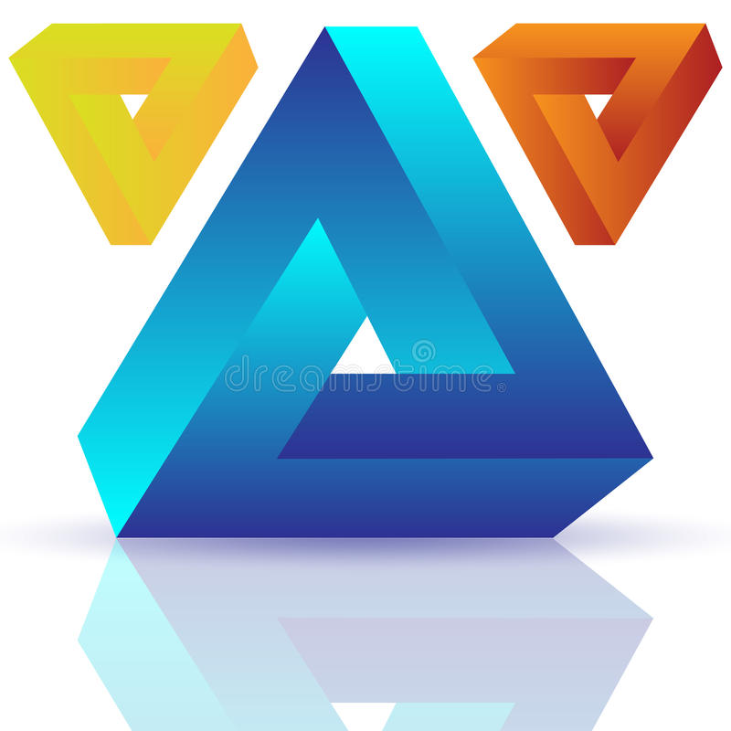 Impossible objects vector illustration