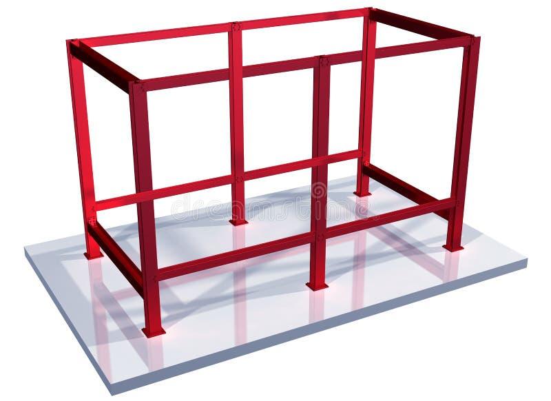 Impossible steel frame royalty free illustration