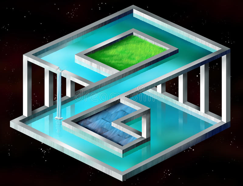 Impossible structure stock illustration