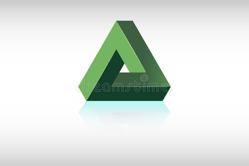Impossible Triangle royalty free stock image