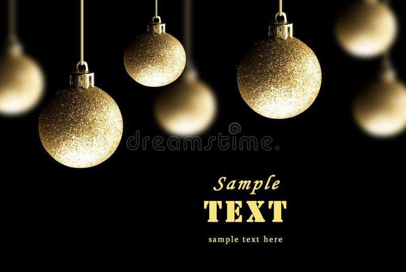Imposta le decorazioni dell'Natale-albero immagine stock