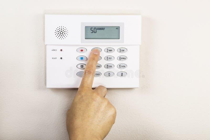 Impostazione del sistema di allarme domestico fotografia stock