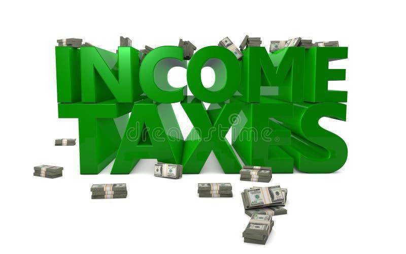 Imposte sul reddito illustrazione di stock