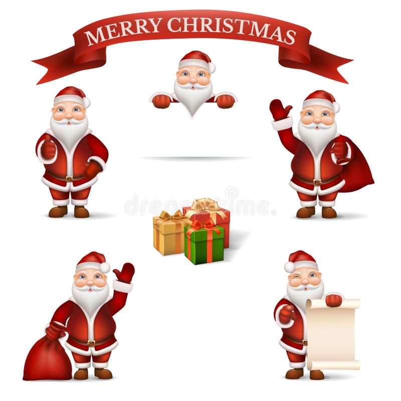 Imposti il Babbo Natale illustrazione vettoriale