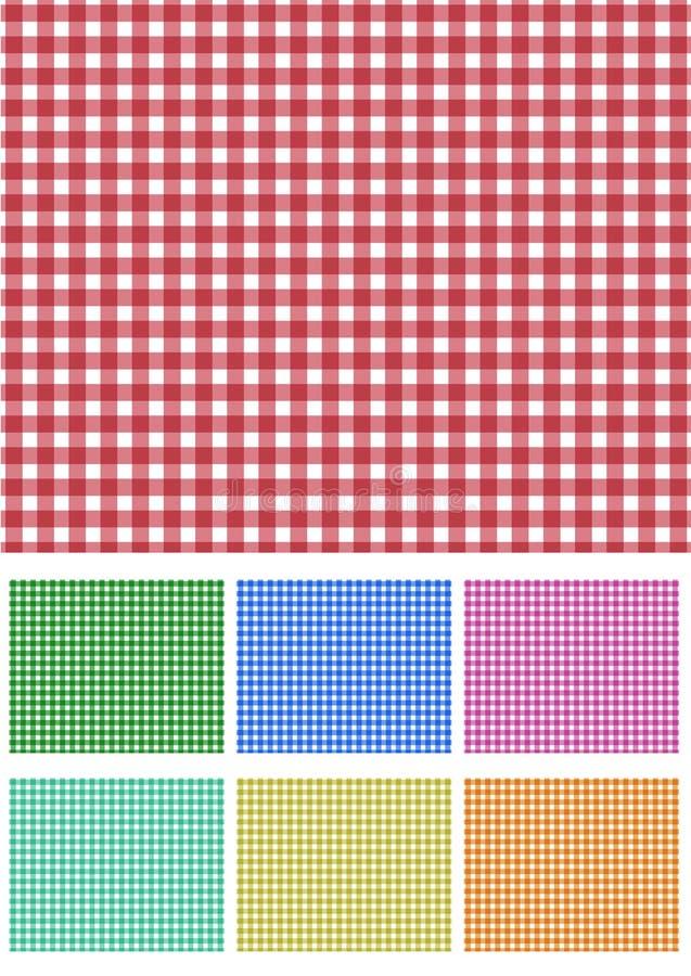Imposti il tessuto di picnic illustrazione di stock