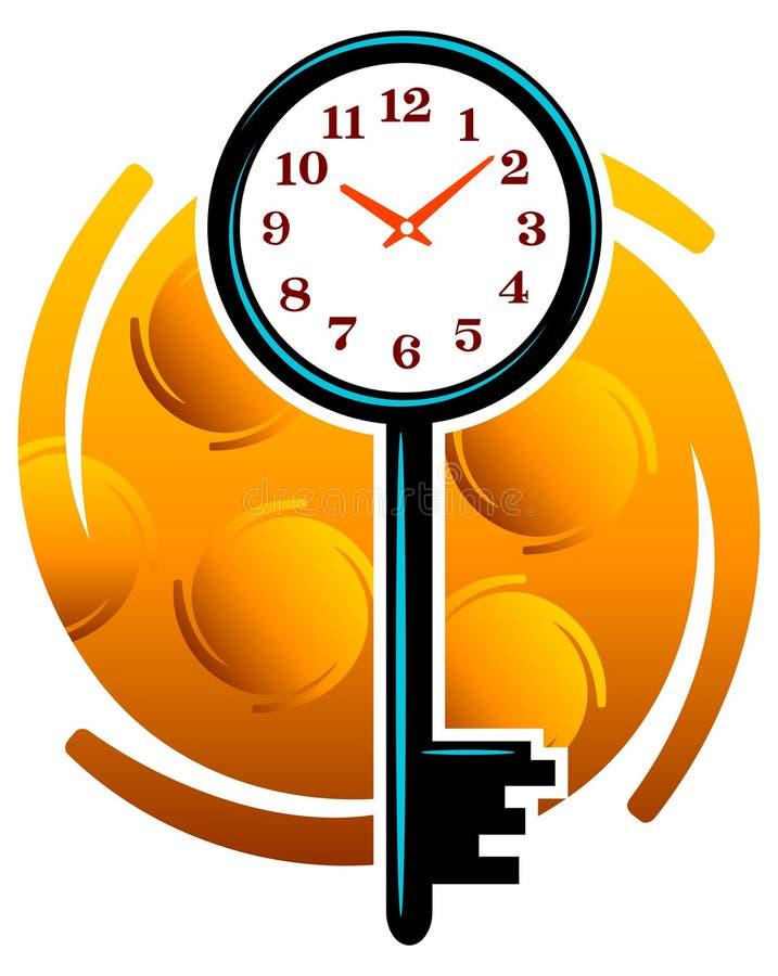 Imposti l'orologio illustrazione vettoriale