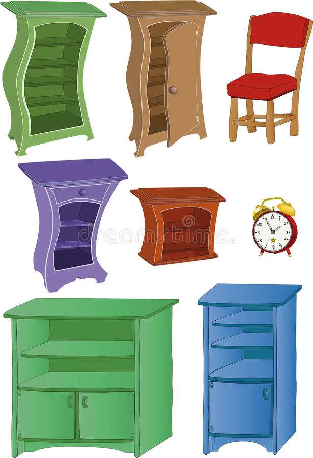 imposti la mobilia illustrazione di stock