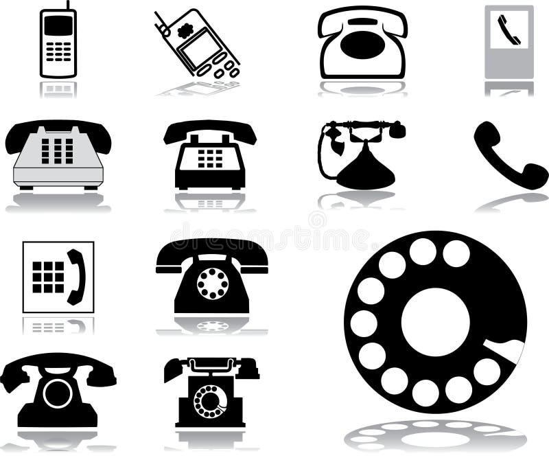 Imposti le icone - 32. Telefoni illustrazione vettoriale