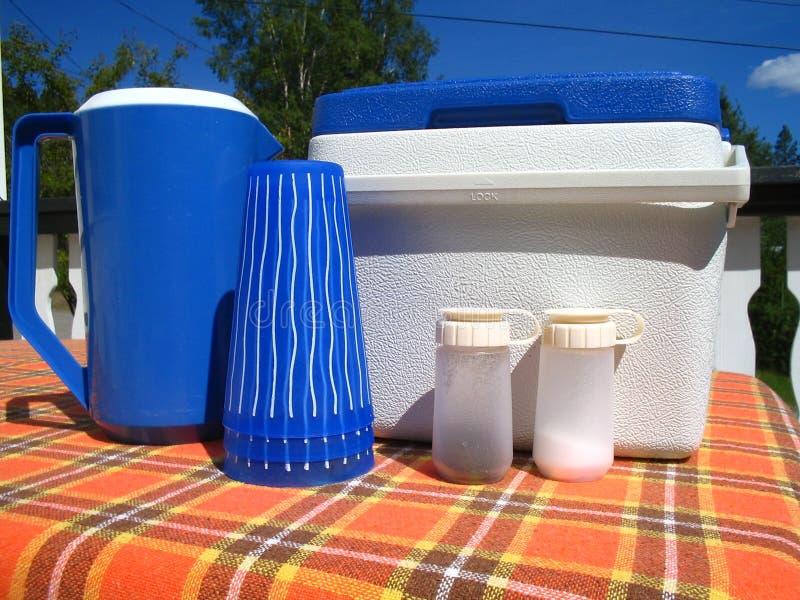 Imposti per il picnic immagine stock