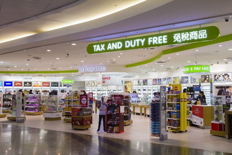 Imposto e loja isenta de direitos aduaneiros no aeroporto de Melbourne imagem de stock