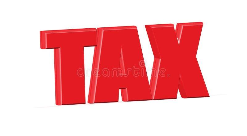 IMPOSTO, palavra 'IMPOSTO 'em 3D vermelho foto de stock royalty free