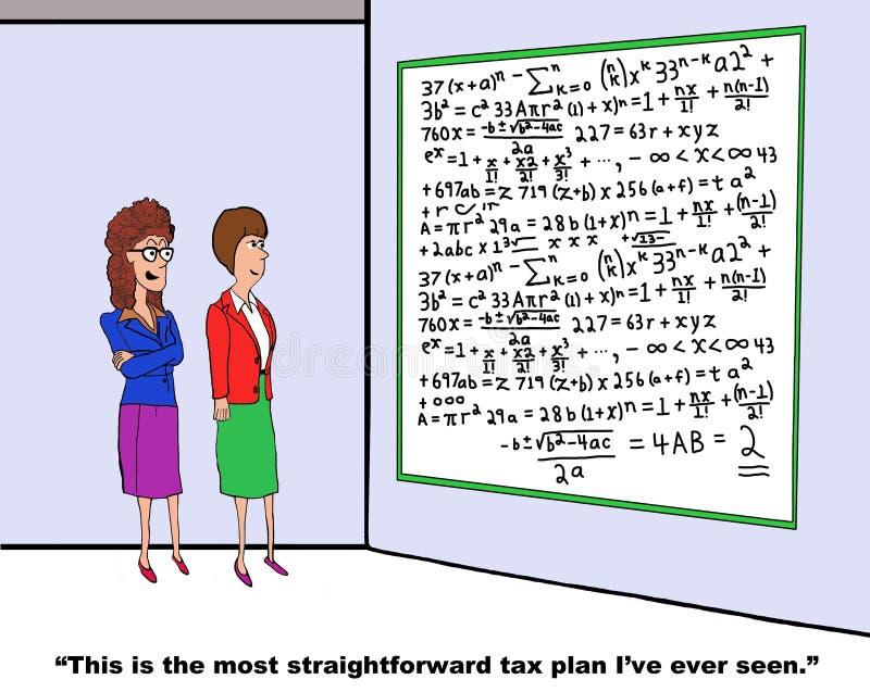 impostos ilustração stock