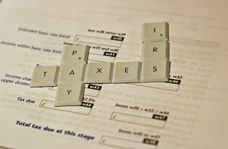 Impostos do pagamento fotografia de stock