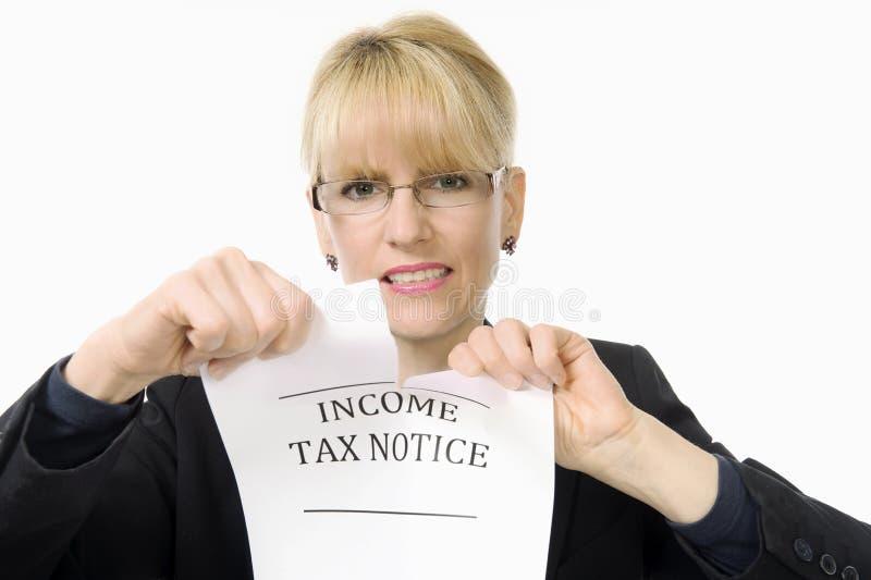 Impostos - oh não! fotografia de stock