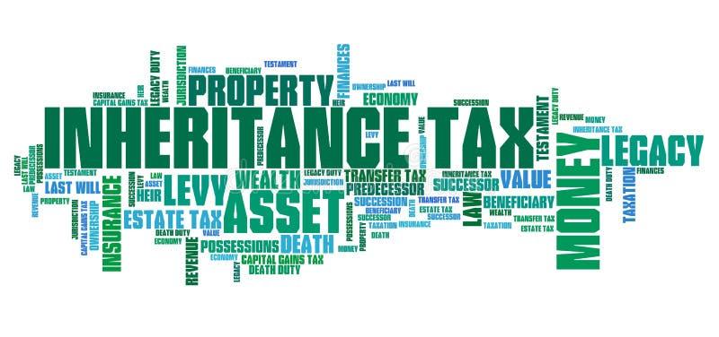 Impostos sucessórios ilustração do vetor