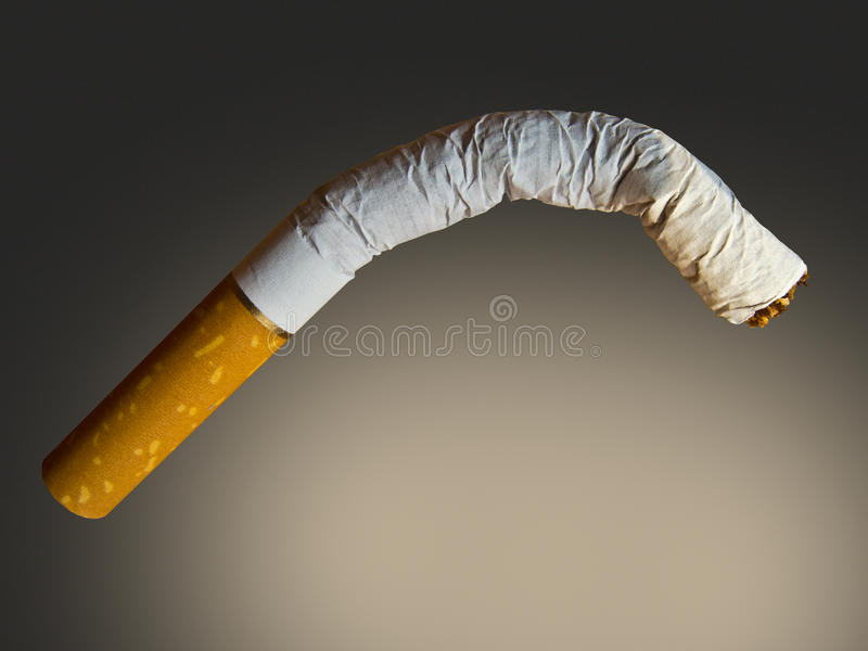 Impotence. Metaphorical image concerning impotence caused by smoking stock photography