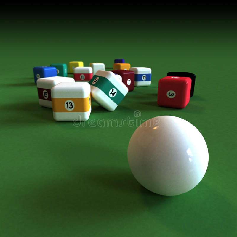 Impractical billiard vector illustration