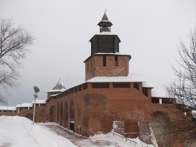 Impregnable Nizhny Novgorod Κρεμλίνο στοκ εικόνες με δικαίωμα ελεύθερης χρήσης