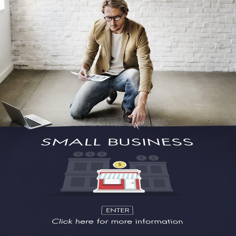 Imprenditore Conc di proprietà dei prodotti della nicchia di mercato di piccola impresa immagine stock libera da diritti