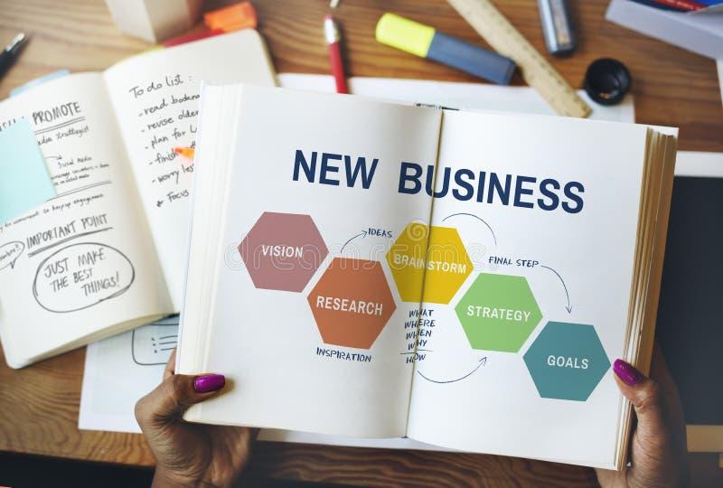Imprenditore obiettivo Concept di nuova visione di affari immagini stock