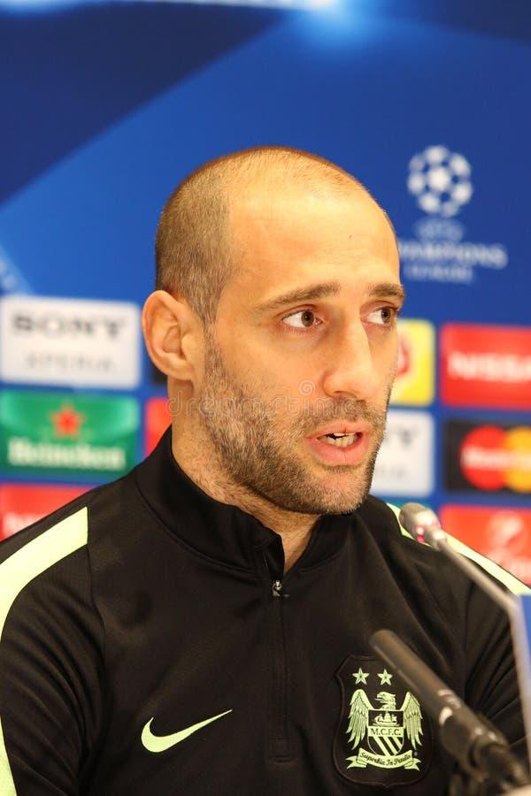 Imprensa-conferência antes do dínamo Kyiv v do jogo da liga de campeões de UEFA fotografia de stock royalty free