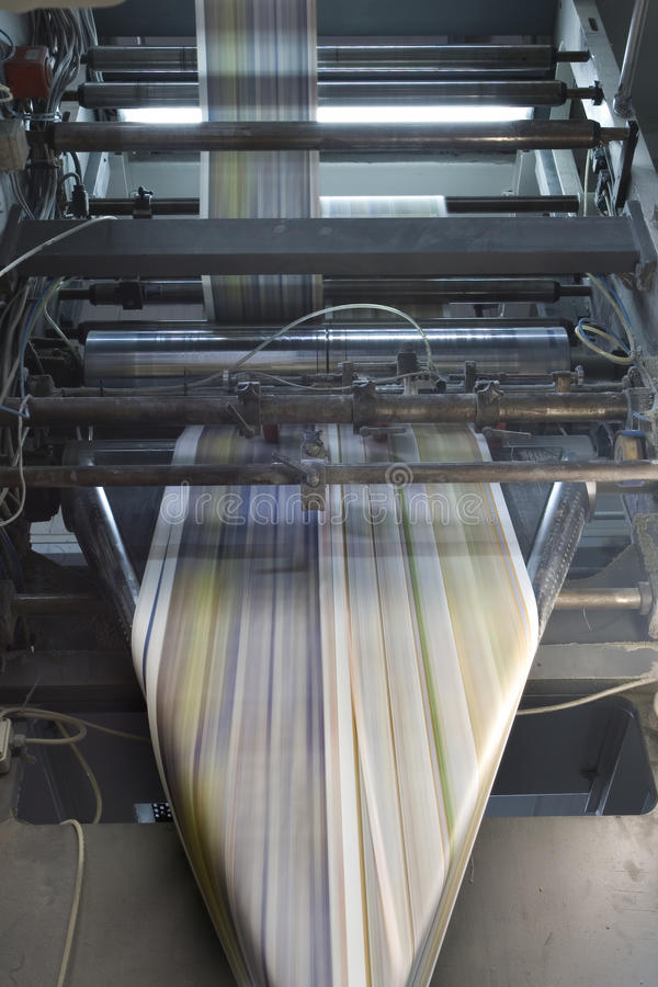Imprensa de impressão imagens de stock