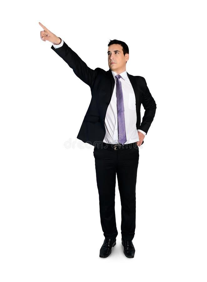 Imprensa do homem de negócio algo fotografia de stock royalty free