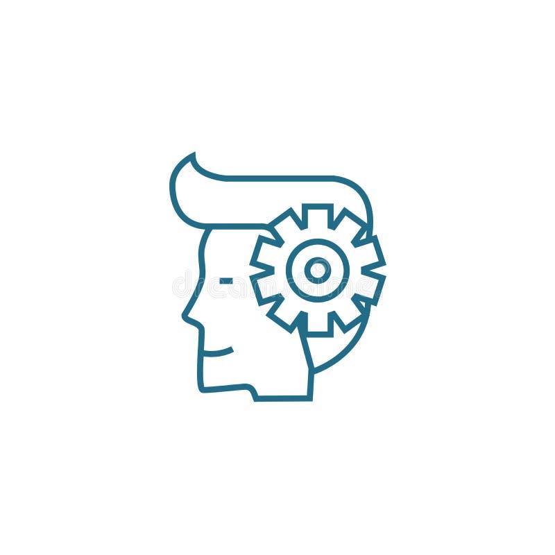 Impresaryjny spirytusowy liniowy ikony pojęcie Impresaryjny duch linii wektoru znak, symbol, ilustracja ilustracja wektor