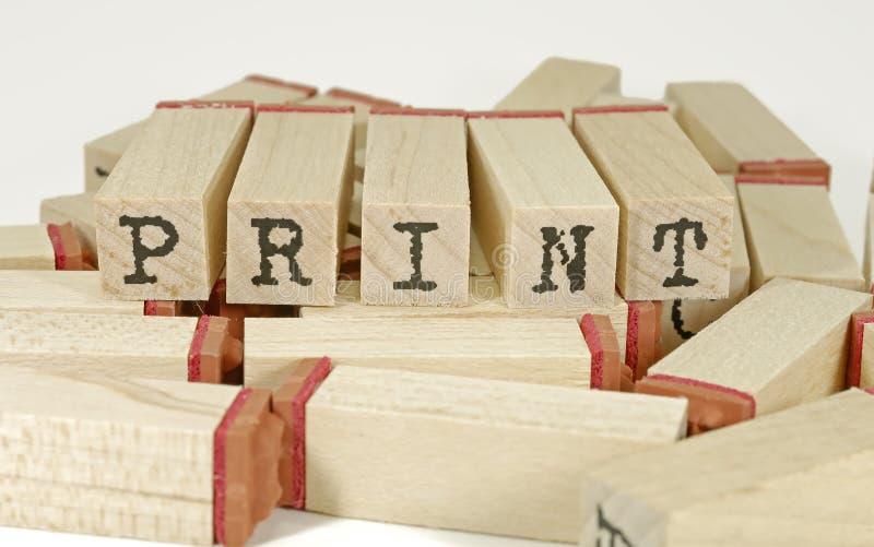 Impresión imágenes de archivo libres de regalías