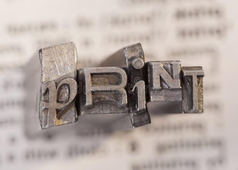 Impresión imagenes de archivo