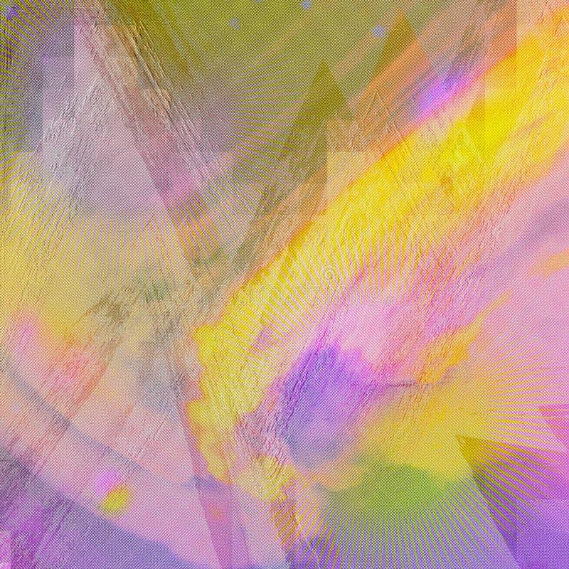 Impresión abstracta en fondo Ilustraciones de los movimientos del cepillo del Grunge Papel del arco iris Arte que vetea Artes de  stock de ilustración