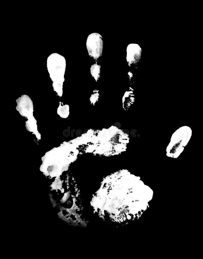 Impresión blanca grasienta de la mano ilustración del vector
