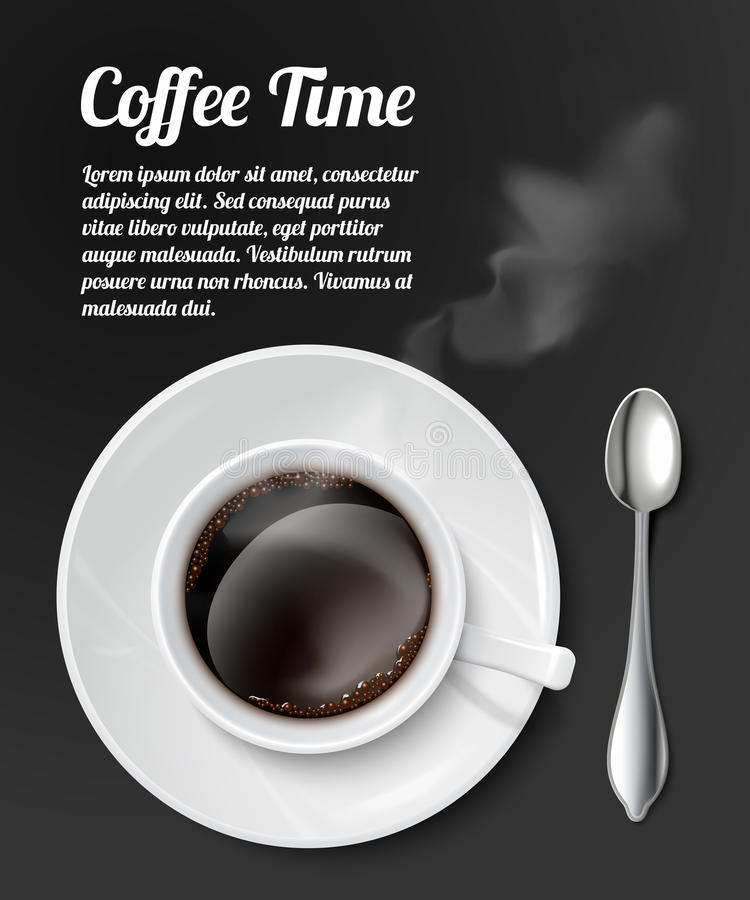 Impresión con la taza de café realista libre illustration