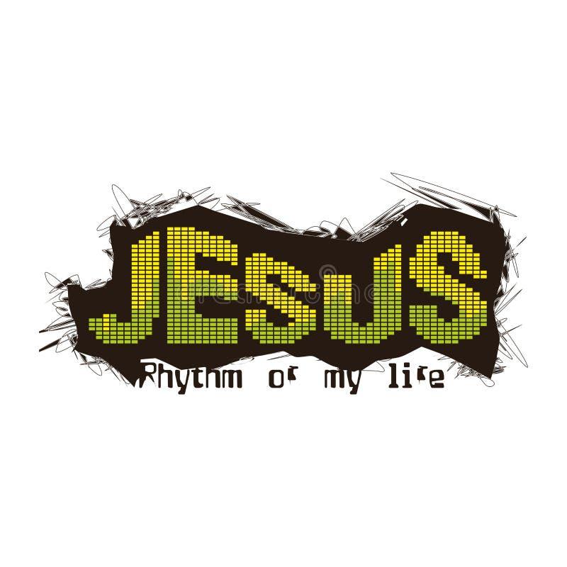 Impresión cristiana Jesús - ritmo de mi vida libre illustration
