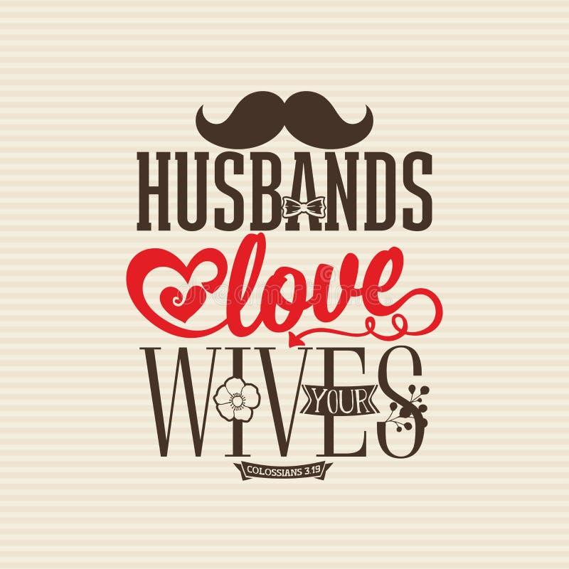 Impresión cristiana Los maridos aman a sus esposas libre illustration
